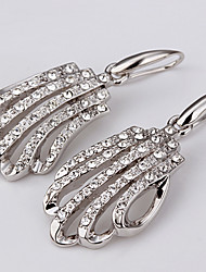Drop Earrings AAA Cubic Zirconia Zircon Platinum Plated Simulated Diamond Silver Jewelry Daily Casual 1 pair
