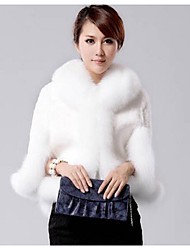 Women's  Fox Collars Acura Rabbit Fur Shawl Fur Coat