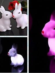comodo doce conejo zodiaco colorida luz LED
