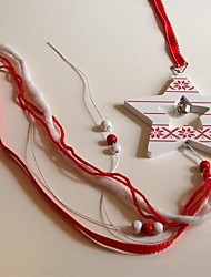 Christmas Hanging White Pentagram Shape  Long 1 PC MDF Materiels for Christmas Decorations