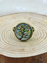 pequeño árbol fresco anillo joya va la vencida galaxia unisex
