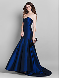 Formal Evening Dress - Royal Blue Plus Sizes Trumpet/Mermaid Sweetheart Court Train Taffeta