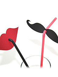 lábio mustche plactis palhas partido (20 / pacote)