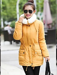 Women's Medium-long Fur collar slim jacket