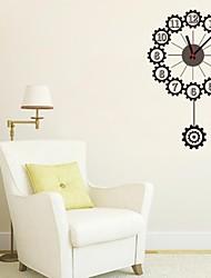 zooyoo® электронный хронометрист батареи DIY красочные круглой формы с маятником Настенные часы Настенные наклейки домашнего декора