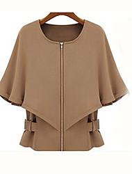 Women's Slim Half Sleeve Cappa Short Coat