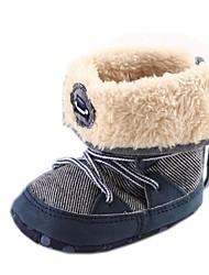 botas de nieve zapatos del muchacho botas de algodón planos del talón con los zapatos de gore