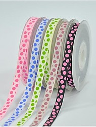 Pontos coloridos costela de poliéster 3/8 polegadas imprimir fita-10 tinta quintal cada saco