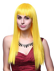 Sweet Princess Long Straight Hair Yellow 55cm Women's Halloween Party Wig