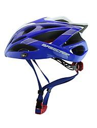 basecamp® bc-007 nueva llegada de actualización de alta calidad ultraligero moldeado integralmente azul casco de bicicleta ajustable + blanco + plata