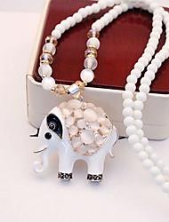 russana Frauen opal lange Halskette