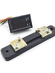 Mini Digital Blue + Red LED DC Current Meter Voltmeter w/ Ampere Shunt