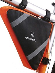ciclismo de nylon amarilla bolsa triángulo tubo bolsa de dirección del chasis frontal
