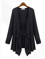 o novo vestido de casaco de moda irregular das mulheres