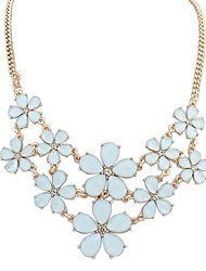 Women's Exquisite Layers Flowers Cluster Clearance Statement Necklace