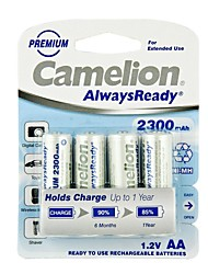 Camelion AlwaysReady 2300mAh Low Self-discharge Ni-MH AA Rechargeable Battery (4pcs)