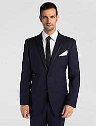 (Premium) dunkelblau Wolle tailliert zweiteilige Smoking