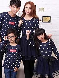 moda e palhaço pais crianças da família onda ponto vestido de gaze e camiseta