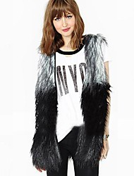 moda splicing longo colete estilo das mulheres