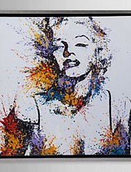 Framed Canvas Art, Color splashes Marilyn Monroe with Stretched Frame