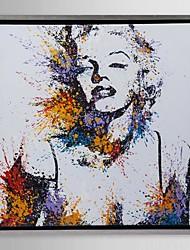 emoldurado arte da lona, cor espirra Monroe Marilyn, com quadro esticado