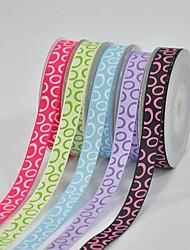 3/8 Inch Polyester Rib Belt Printing Ink Dot Magic Bubble Ribbon-10 Yard Each Bag