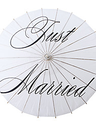 bianco asiatico tradizionale ombrellone nozze di legno