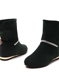Women's Fall Winter Fashion Boots Leatherette Office & Career Dress Flat Heel Bowknot Black Yellow Green Purple