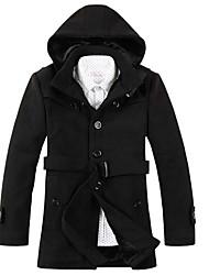 moda casual equipado casaco de tweed vento homens jinzita