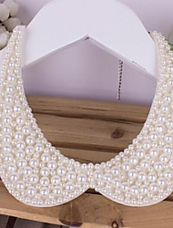 Women's All Handmade Pearl  Necklace Collar