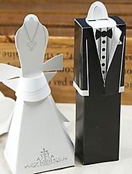 vestido formal&caja del favor esmoquin (juego de 6 pares)