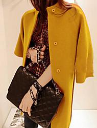 longo casaco de lã das mulheres de lavanda