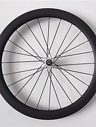 AURORA  700c Road Bike,Bicycle 50mm Depth 20.5mm Width Full Carbon Tubular Wheels, Basalt Brake Surface