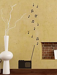 Wall Stickers Wall Decals,  Modern The symbol of music radio PVC Wall Stickers