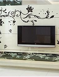 doudouwo® Wandaufkleber Wandtattoos, mit blumen die edlen und schönen Blumen PVC-Wandaufkleber