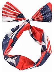 bandeira de união moda chiffon das mulheres headbands fio