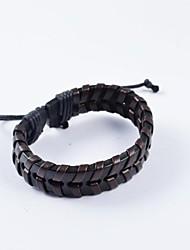 Муж. Кожаные браслеты Кожа Уникальный дизайн Мода Бижутерия Бижутерия 1шт