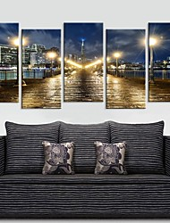 Personalized Canvas Print Seawall Night 30x60cm  40x80cm  50x100cm Framed Canvas Painting   of 5