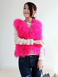 colletto senza maniche di pelliccia struzzo occasione casual / ufficio / partito giacca (più colori)