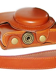 Dengpin® Leather Camera Case Oil Skin with Shoulder Strap for Sony DCS-RX100 II M2 M3 RX100 III RX100
