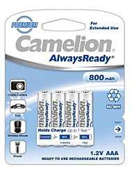 Camelion AlwaysReady 800mAh Low Self-discharge Ni-MH AAA Rechargeable Battery (4pcs)