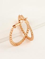 Women's Simple Style Circle Pattern 18K Gold Earrings