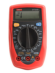 UNI-T UT33D Handheld Voltmeter Ammeter Ohm Test Meter Digital Multimeter with LCD Display