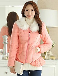 Women's Slim Casual Fur Collar Down Jacket