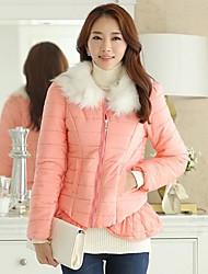 Women's Slim Casual Fur Collar Down Jacket