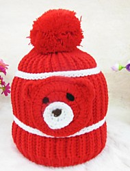 Kid's Fashion Joker Lovely Warm Bear Head Hat