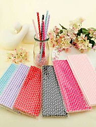 Small Polka Dots Paper Straws(Set of 25)