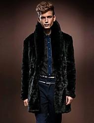 Men Faux Fur Outerwear , Fleece Lining