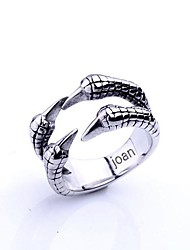 Personalized Gift  Fashionable Eagle Talons Shaped Stainless Steel Jewelry Engraved  Men's Ring