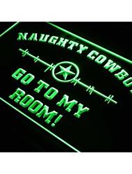 cowboys S225 estrela para o meu quarto sinal de luz neon
